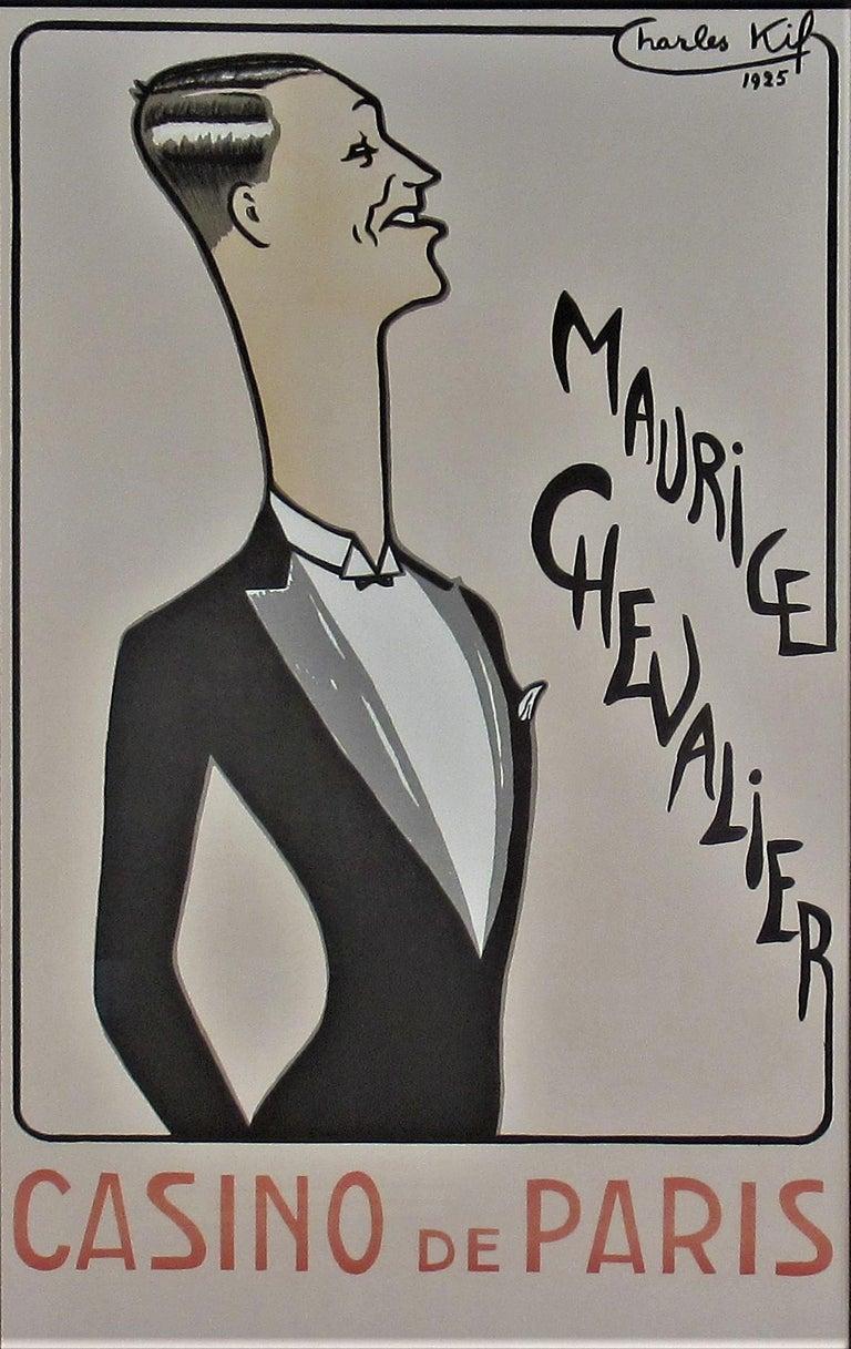 Maurice Chevalier, Casino de Paris  - Print by Charles Kiffer