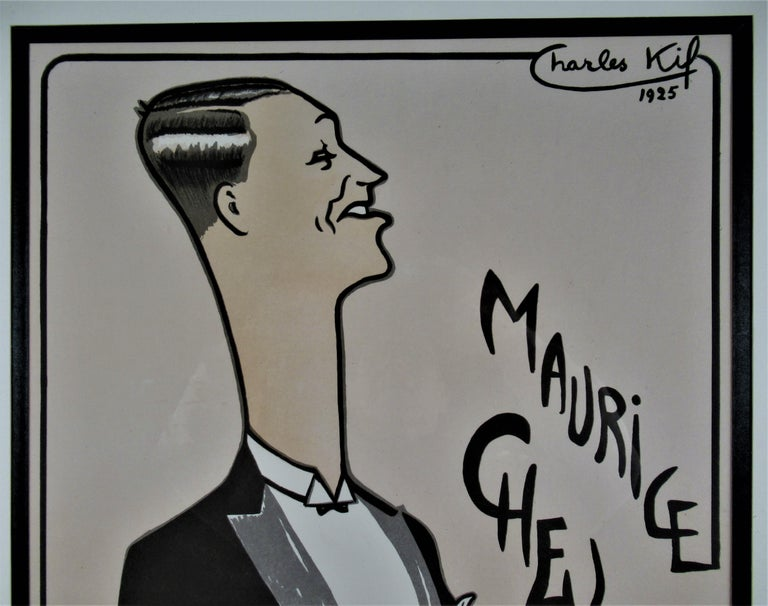 Maurice Chevalier, Casino de Paris  - Realist Print by Charles Kiffer