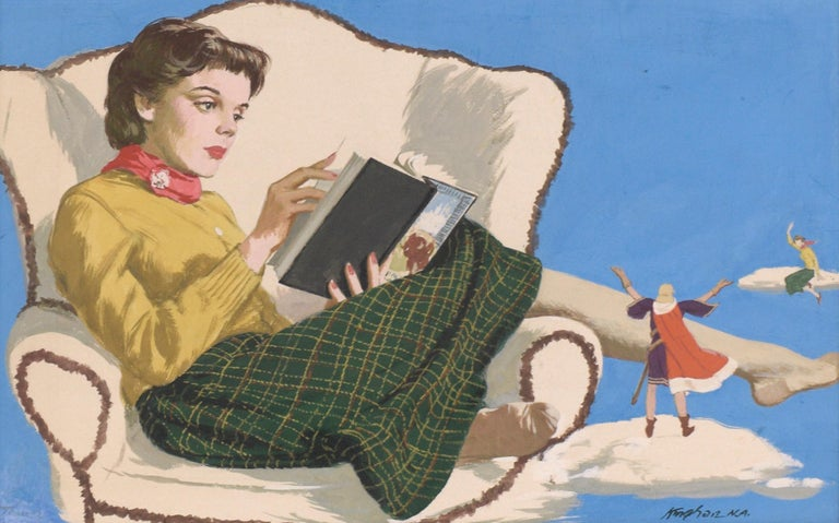 Adventures in Literature Illustration art - Painting by Charles Kinghan