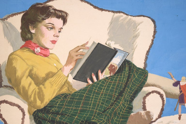 Adventures in Literature Illustration art - White Interior Painting by Charles Kinghan