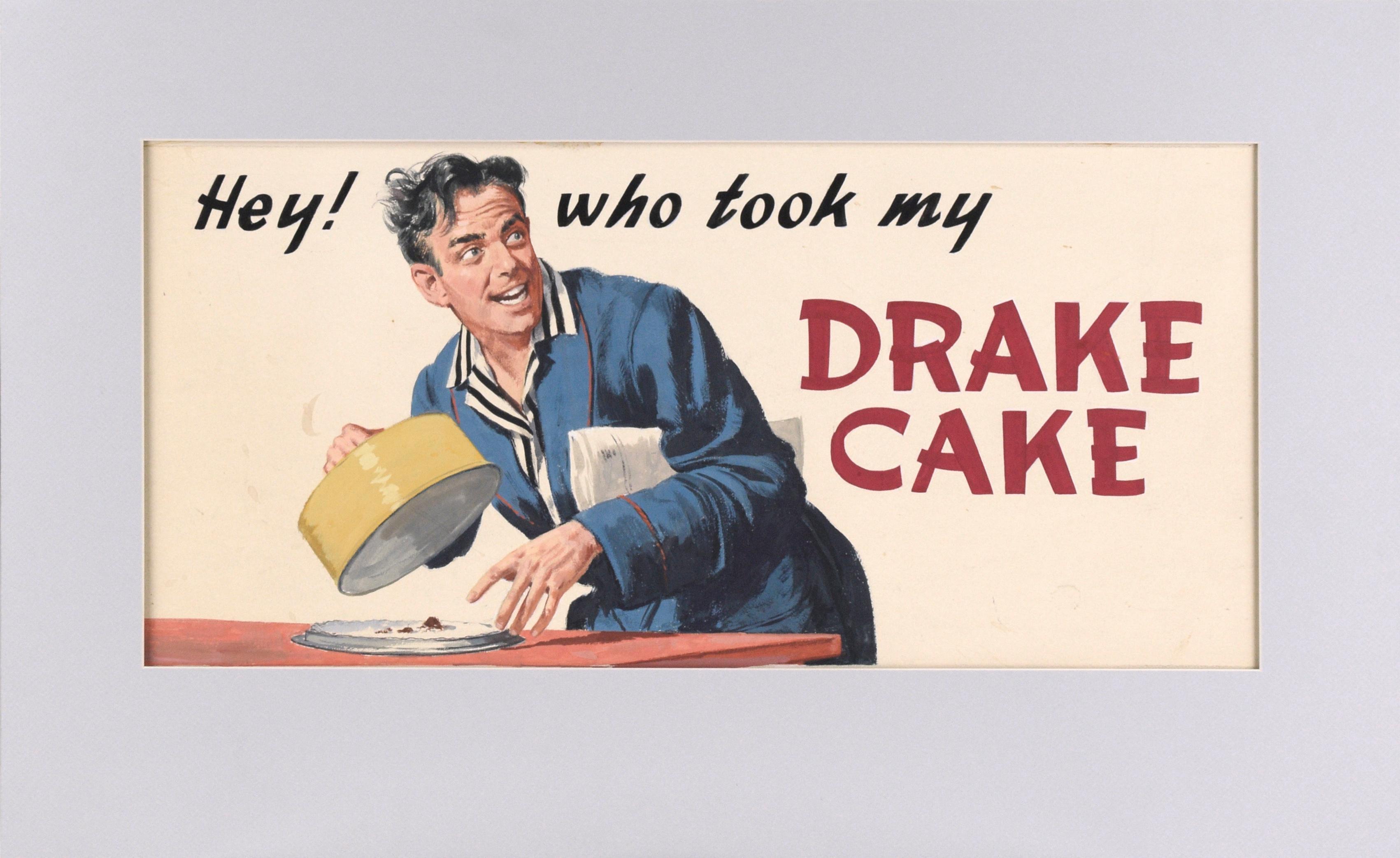 """Hey! who took my Drake Cake"" - Vintage Advertisement - Original Illustration"