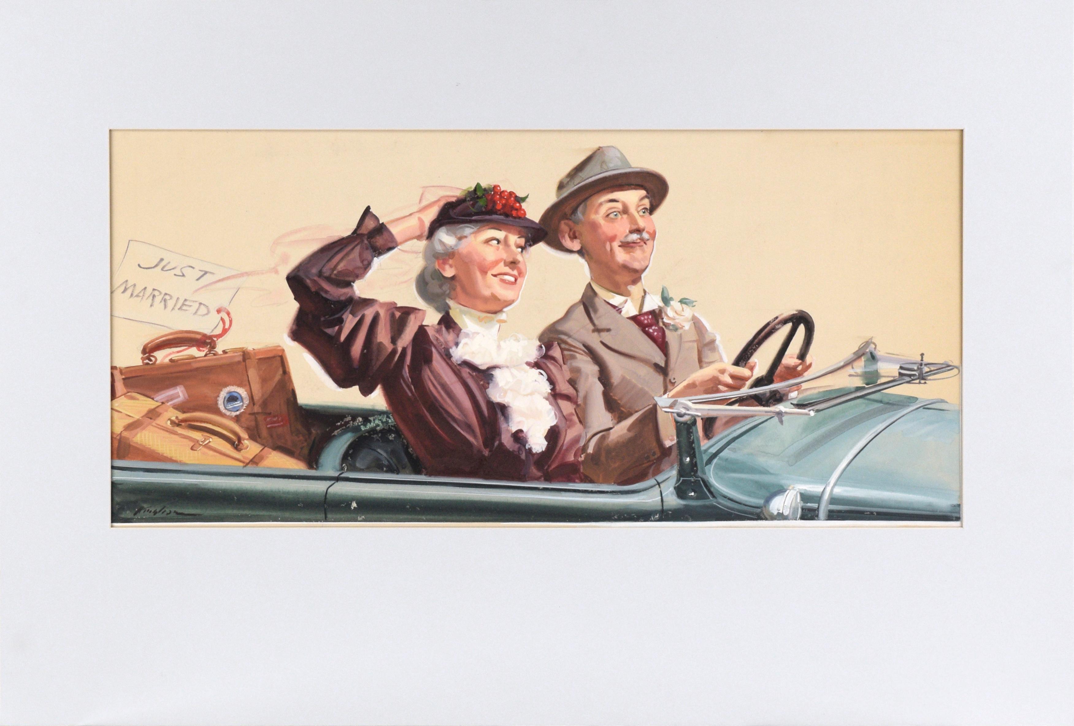 """Just Married"" Original Painted Illustration"