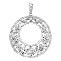 Charles Krypell 1.20 Carat Diamond White Gold Pendant