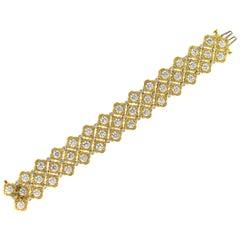Charles Krypell 26.50 Carat Diamond Bracelet 18 Karat Gold