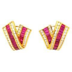 Charles Krypell Ruby Earrings