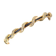 Charles Krypell Sapphire and Diamond Yellow Bracelet