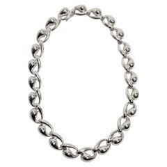 Charles Krypell Sculptured Sterling Silver Necklace