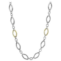 Charles Krypell Yellow Gold and Silver Necklace