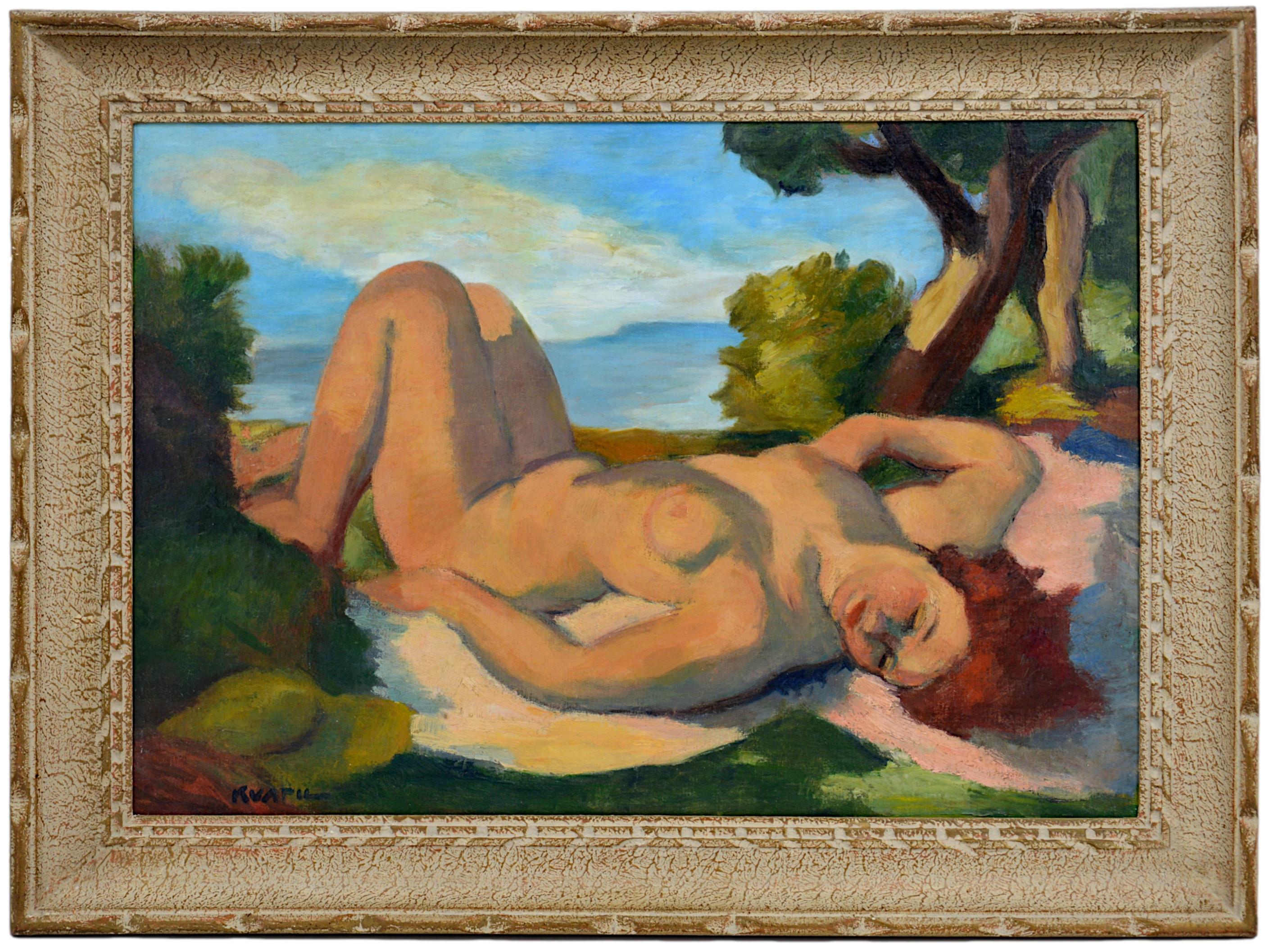 "Charles Kvapil, ""On the edge of the lake"", ca.1920"