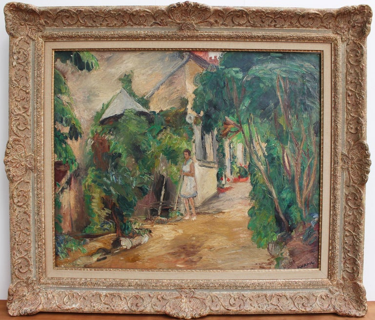 Le Jardin (The Garden) - Painting by Charles Kvapil