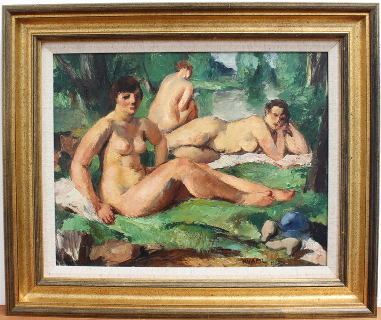 The Bathers - Painting by Charles Kvapil