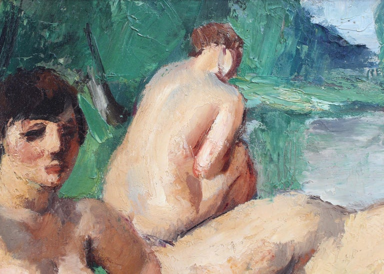'The Bathers', oil on board, by Charles Kvapil (1927). The world of art has for centuries depicted bathers in one form or another. Kvapil's version, inspired by Courbet and Cézanne, is wonderfully alluring. Three nudes appear in a dreamy state