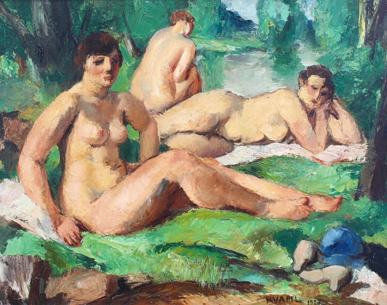 Charles Kvapil Nude Painting - The Bathers