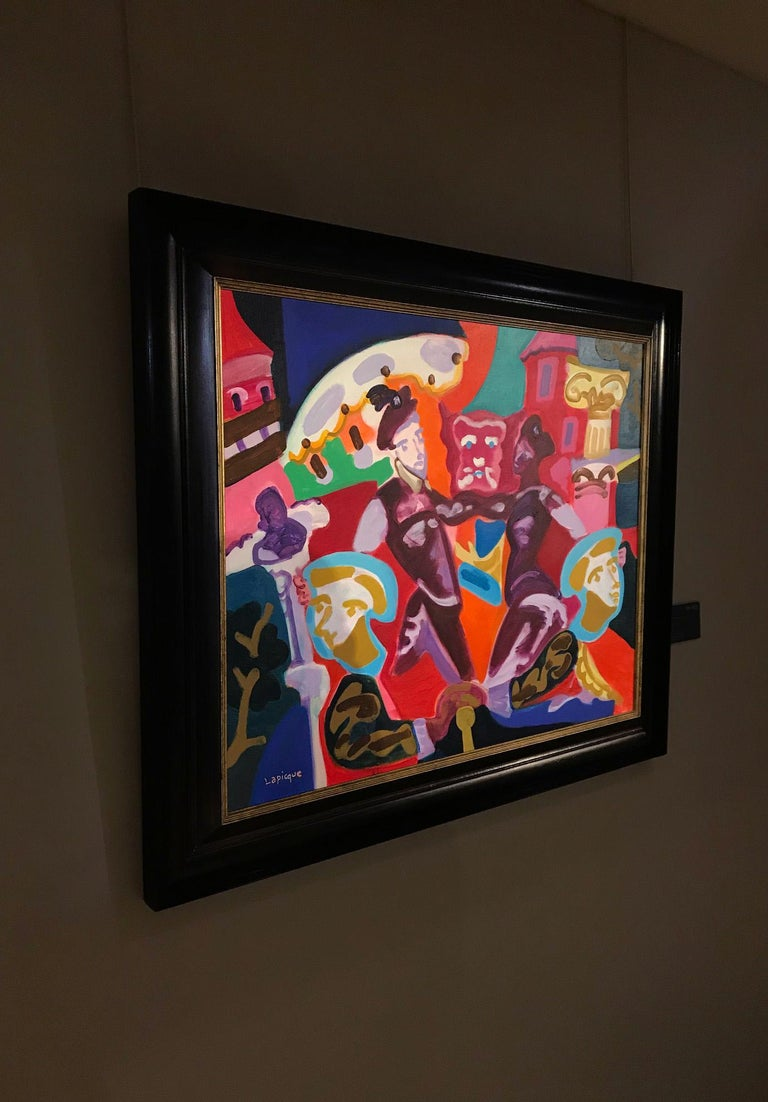 Le Bal - Charles Lapicque, modern art, colorful, painting, avant-garde, prom For Sale 1