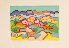 Campagne Grecque (Greek Country) by Charles Lapicque - signed color lithograph