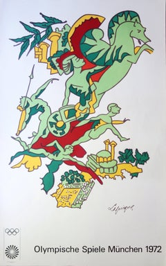 Faster, Higher, Stronger - Lithograph (Olympic Games Munich 1972)