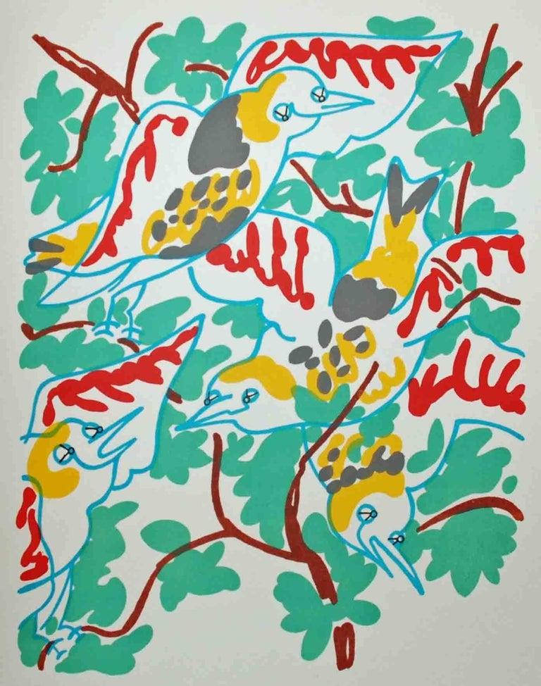 Le Chant des Oiseaux - Print by Charles Lapicque
