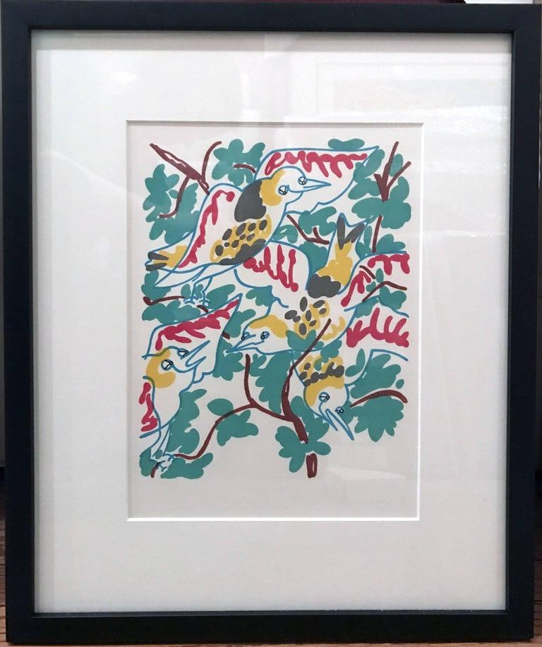 Charles Lapicque Landscape Print - Le Chant des Oiseaux