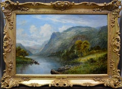 Banks of Loch Lomond - 19th Century Landscape Oil Painting of Scottish Highlands