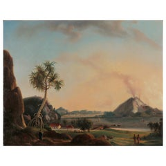 Charles Legrain '19th Century', Two Javanese Landscapes, Indonesian Colonial Art