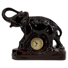 Charles Lemanceau French Art Deco Elephant Clock, 1930s