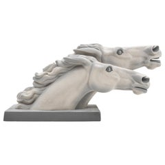 "Charles Lemanceau, French Art Deco Horse Statue ""At The Winning Post"", 1930s"