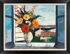 """Bouquet de Printemps"" Large 4-Foot Framed Landscape Painting by Charles Levier"