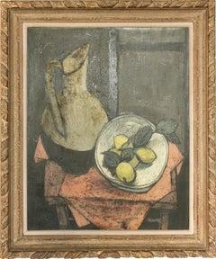 "Charles Levier, ""Nature morte aux citrons"", 1961, oil on canvas 30x24"""