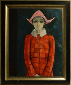 """Jeune Harlequin"" Oil on Canvas 30 x 24"