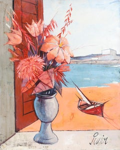 La Plage, Still Life Floral by Charles Levier