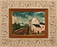 Landscape - Original Oil Painting by Charles Levier with Original Frame