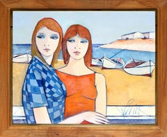 Les Soeurs (The Sisters), Oil Painting by Charles Levier