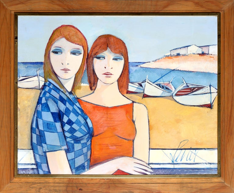 Les Soeurs (The Sisters) Charles Levier, French (1920–2003) Date: circa 1965 Oil on Canvas, signed l.r. Size: 24 x 30 in. (60.96 x 76.2 cm) Frame Size: 29.5 x 35.5 inches