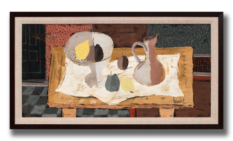 [Avec Une Nappe Blanche] Framed Still Life Oil Painting by Charles Levier For Sale 2