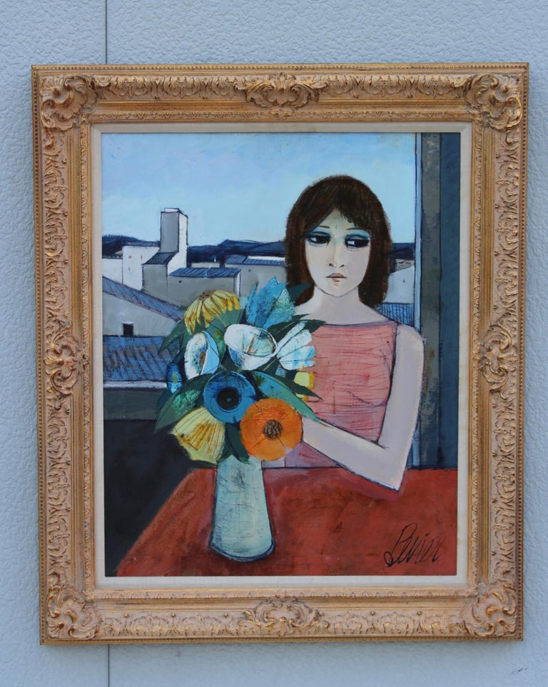 1960s Oil on canvas artwork by French artist Charles Levier title
