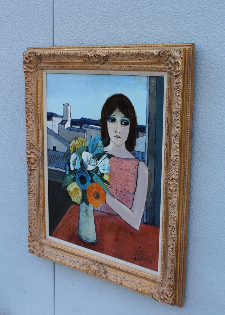 French Charles Levier Reverie Oil Painting  For Sale