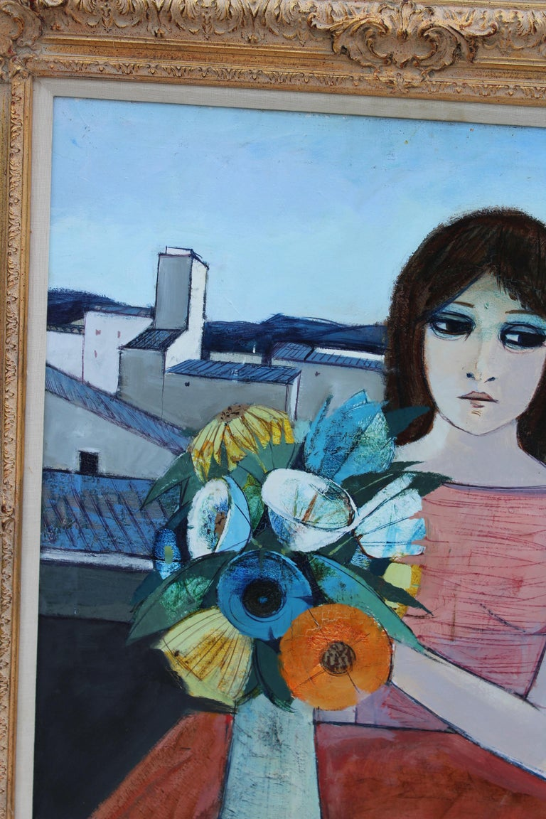 20th Century Charles Levier Reverie Oil Painting  For Sale