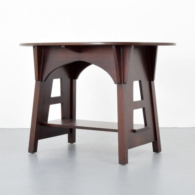 Charles Limbert Mission Library Table In Good Condition For Sale In West Palm Beach, FL