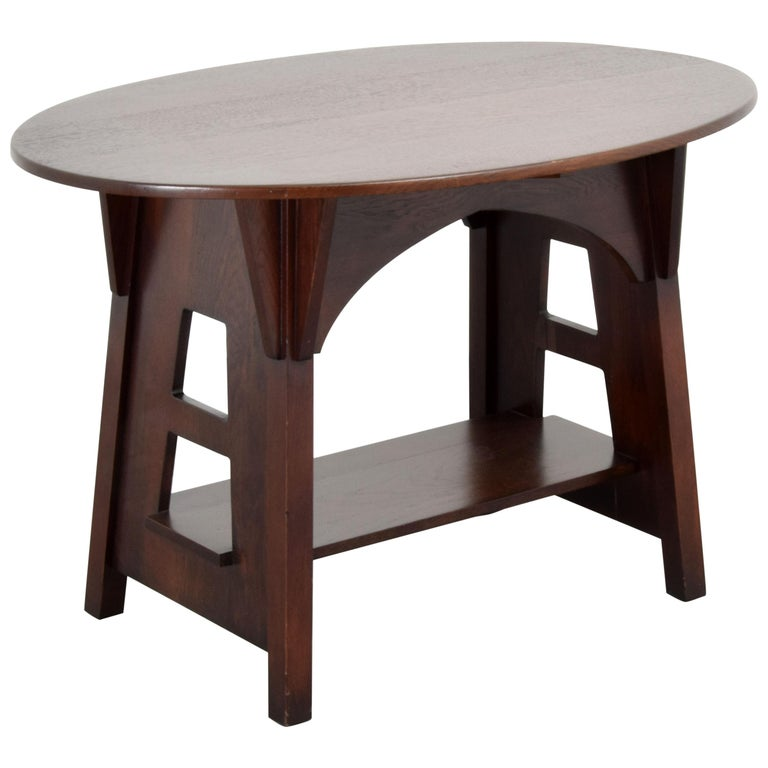 Charles Limbert Mission Library Table For Sale