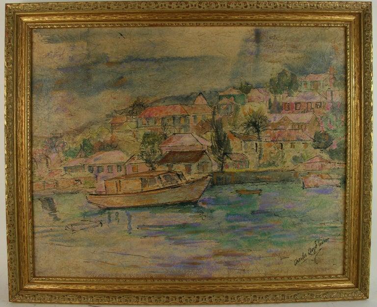 Charles Lloyd Tucker Landscape Painting - Caribbean Coastal Landscape