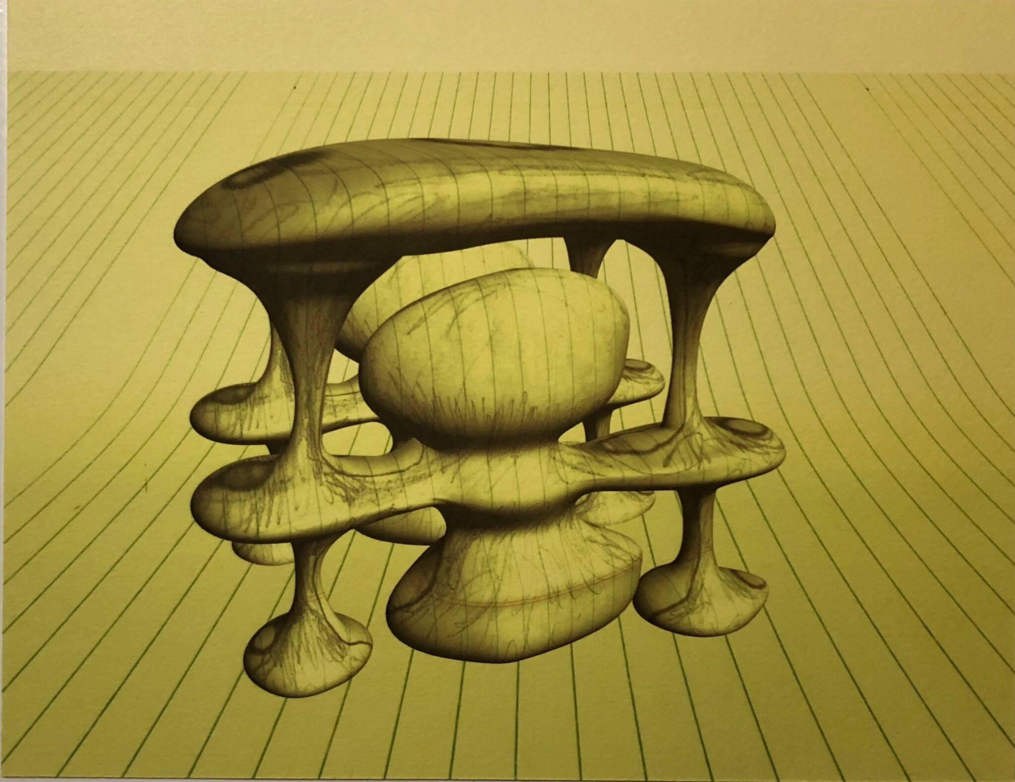 "Digital Iris Print ""Schizmo Genesis"" Pencil Signed with Initials edition of 15"