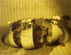 "Digital Iris Print ""Theatres of the Body "" Pencil Signed w Initials ed. of 15"