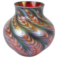 Charles Lotton Modern Art Glass Iridescent Vase