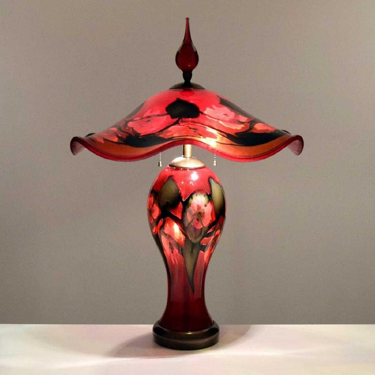 Lamp by Charles Lotton (American, b. 1935). 