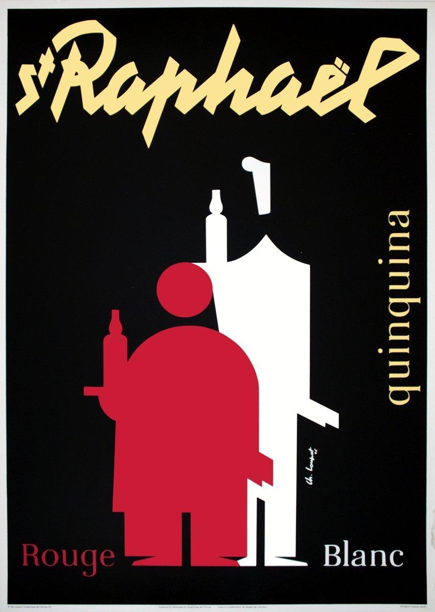 1988 After Charles Loupot 'Saint Raphael' Vintage France Serigraph