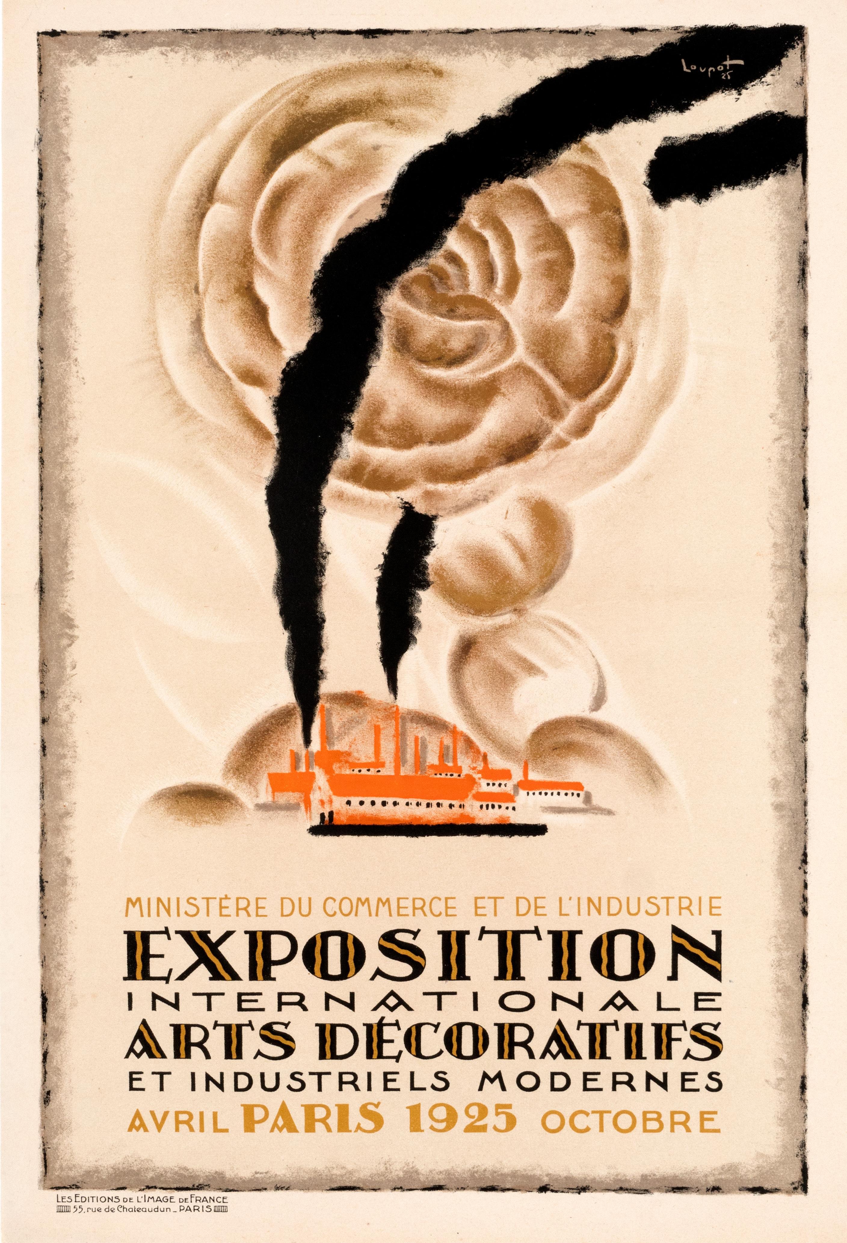 """Exposition Internationale Arts Decoratifs"" Original Vintage Exhibition Poster"