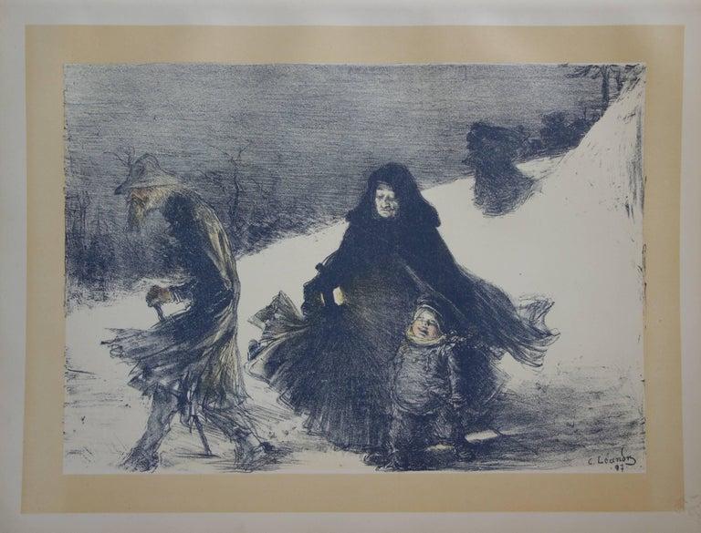 Charles Lucien Léandre Figurative Print - Christmas - original lithograph (1897-1898)
