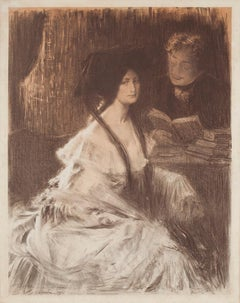Young Woman - Original Lithograph by Charles Lucien Léandre - 1903