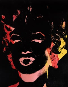 Marilyn Monroe Andy Warhol Denied Painting canvas pink red by Charles Lutz