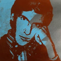 Yves Saint Laurent Andy Warhol Denied Painting canvas blue by Charles Lutz